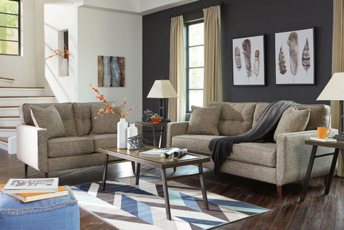 CHENTO JUTE COLLECTION SOFA AND LOVE SEAT 2 PCS SET