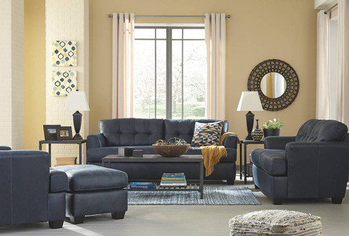 INMON NAVY COLLECTION SOFA AND LOVE SEAT 2 PCS SET