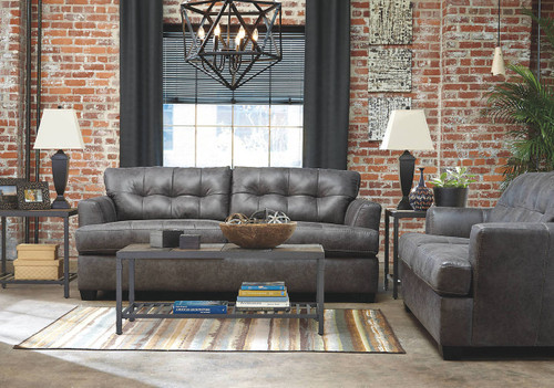 INMON CHARCOAL COLLECTION SOFA AND LOVE SEAT 2 PCS SET