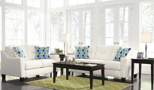 FORSAN NUVELLA WHITE COLLECTION SOFA AND LOVE SEAT 2 PCS SET