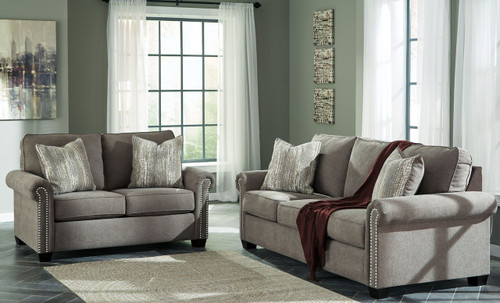 GILMAN CHARCOAL COLLECTION SOFA AND LOVE SEAT 2 PCS SET-92602-38-35