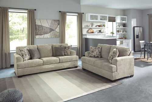 BARRISH SISAL COLLECTION SOFA AND LOVE SEAT 2 PCS SET