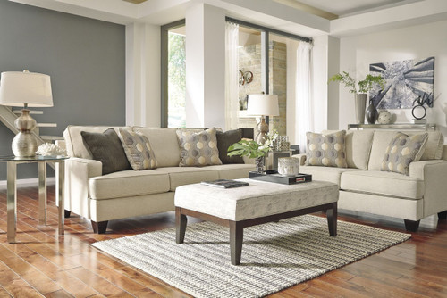 BRIELYN LINEN COLLECTION SOFA AND LOVE SEAT 2 PCS SET