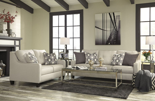 GUILLERNO ALABASTER COLLECTION SOFA AND LOVE SEAT 2 PCS SET