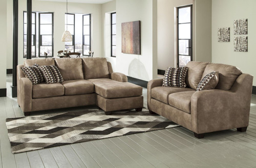 ALTURO DUNE COLLECTION SOFA CHAISE AND LOVE SEAT 2 PCS SET