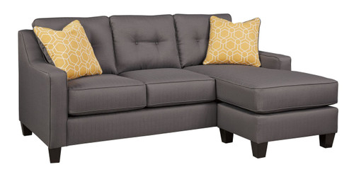 ALDIE NUVELLA GRAY COLLECTION QUEEN SOFA CHAISE SLEEPER-68702-68