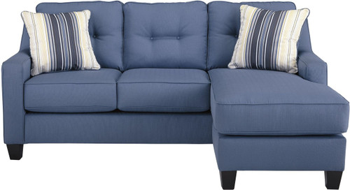 ALDIE NUVELLA BLUE COLLECTION QUEEN SOFA CHAISE SLEEPER