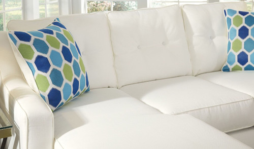 ALDIE NUVELLA WHITE COLLECTION QUEEN SOFA CHAISE SLEEPER-68704-68