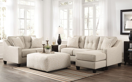 ALDIE NUVELLA SAND COLLECTION QUEEN SOFA CHAISE SLEEPER-68705-68