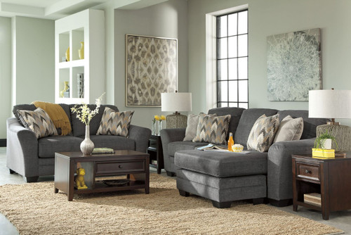 BRAXLIN CHARCOAL COLLECTION SOFA CHAISE AND LOVE SEAT 2 PCS SET