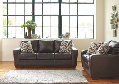 COPPELL DURABLEND®* CHOCOLATE COLLECTION SOFA AND LOVE SEAT 2 PCS SET