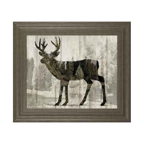 CAMOUFLAGE ANIMALS- DEER BY TANIA BELLO 22x26