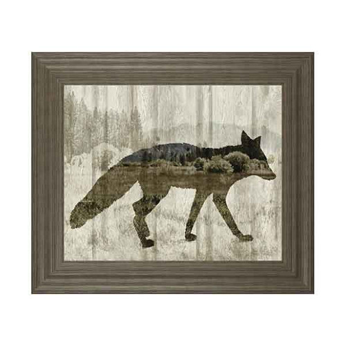 CAMOUFLAGE ANIMALS-FOX BY TANIA BELLO 22x26