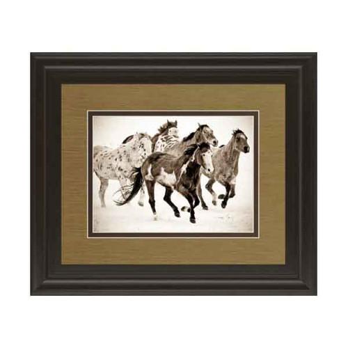 PAINTED HORSES RUN 34x40