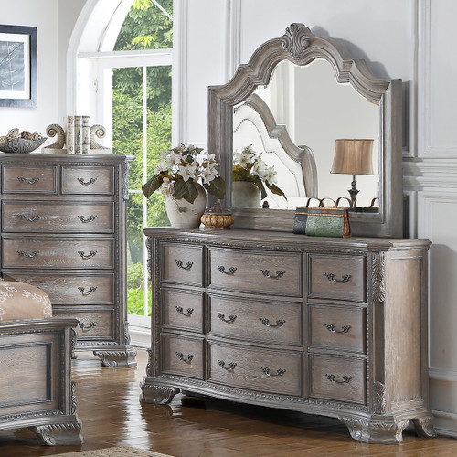 SHEFFIELD DRESSER ANTIQUE GREY-B1120/1