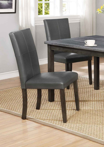 POMPEI SIDE CHAIR GREY 2 PCS SET-2377GY/S