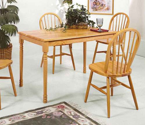 WINDSOR SOLID TOP TABLE L OAK-2302L/OAK