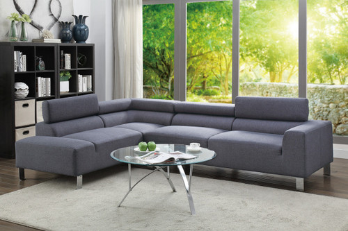 2PCS BLUE GREY SECTIONAL SET
