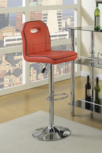 ADJUSTABLE BAR STOOL RED 2 PCS SET-F1624