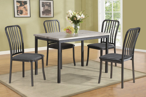 5PCS DINING TABLE SET GREY-F2356