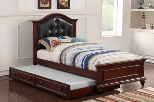 TWIN BED W/TRUNDLE BLK-F9379