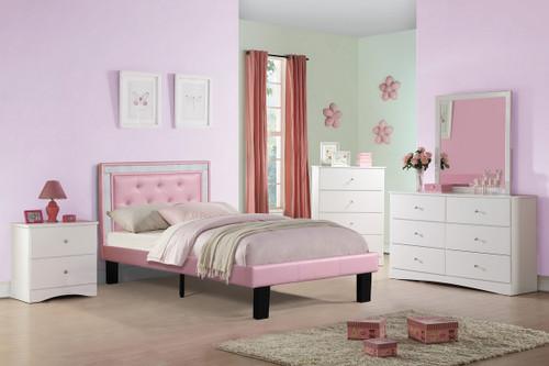 TWIN BED PU PINK-F9375