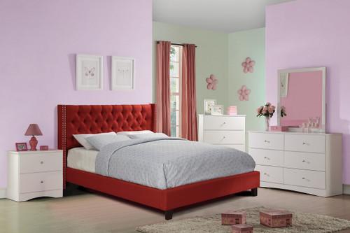 FULL BED NAILHEAD CARMINE-F9372