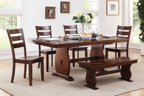 5PCS RECTANGULAR SHAPE DINING TABLE SET-F2293-F1441