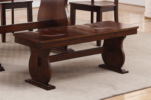 WOODEN FINISH DINING BENCH