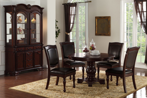 5PCS CHERRY ROUND DINING TABLE SET