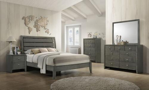 6 PCS EVAN GREY BEDROOM SET (Q/K)