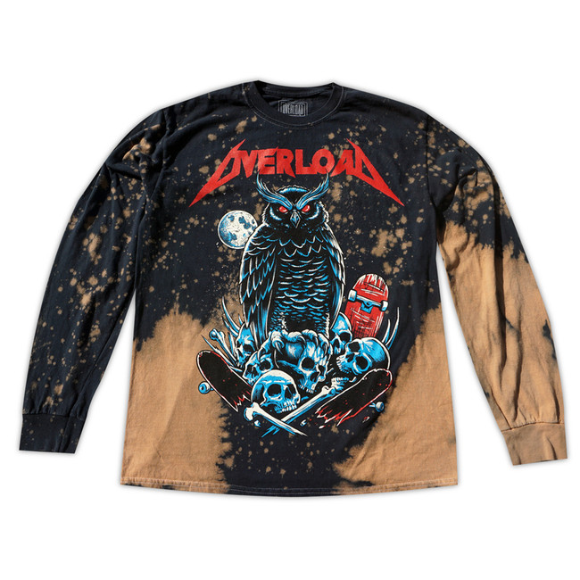 Overload - T-Shirt - Metal - LS Brown Splatter