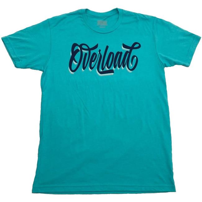 Overload - T-Shirt - Cursive - Tahiti Blue