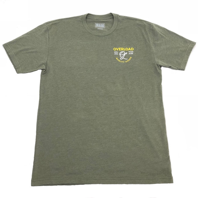 Overload - T-Shirt - Indian Skull - Military Green/Yellow
