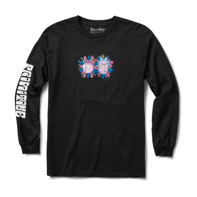 Primitive - T-Shirt - R & M Dirty P L/S - Black