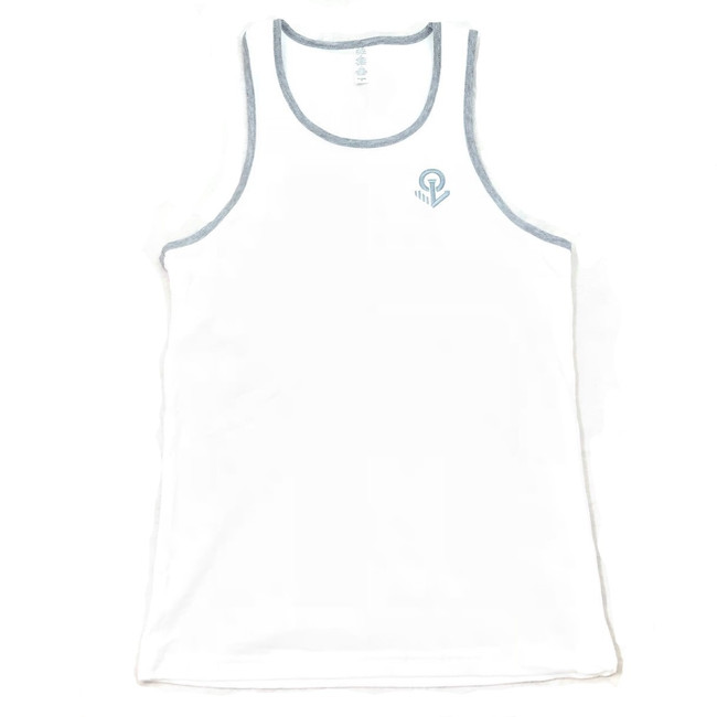 Overload - Tank Top - Anchor EMB - White/Heather