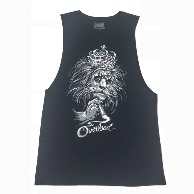 Overload - Tank Top - Lion - Navy