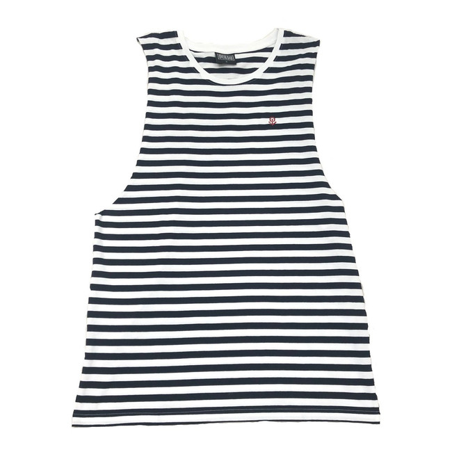 Overload - Tank Top - Anchor Stripe - Black/Natural