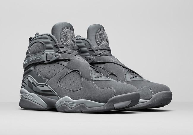 Cool Grey Jordan 8