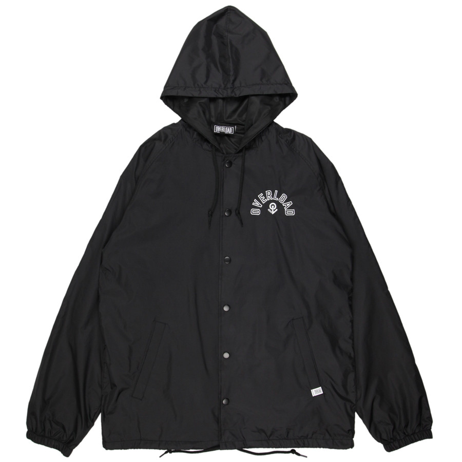 Overload - Jacket - Arc Hooded Coaches Jacket - Black