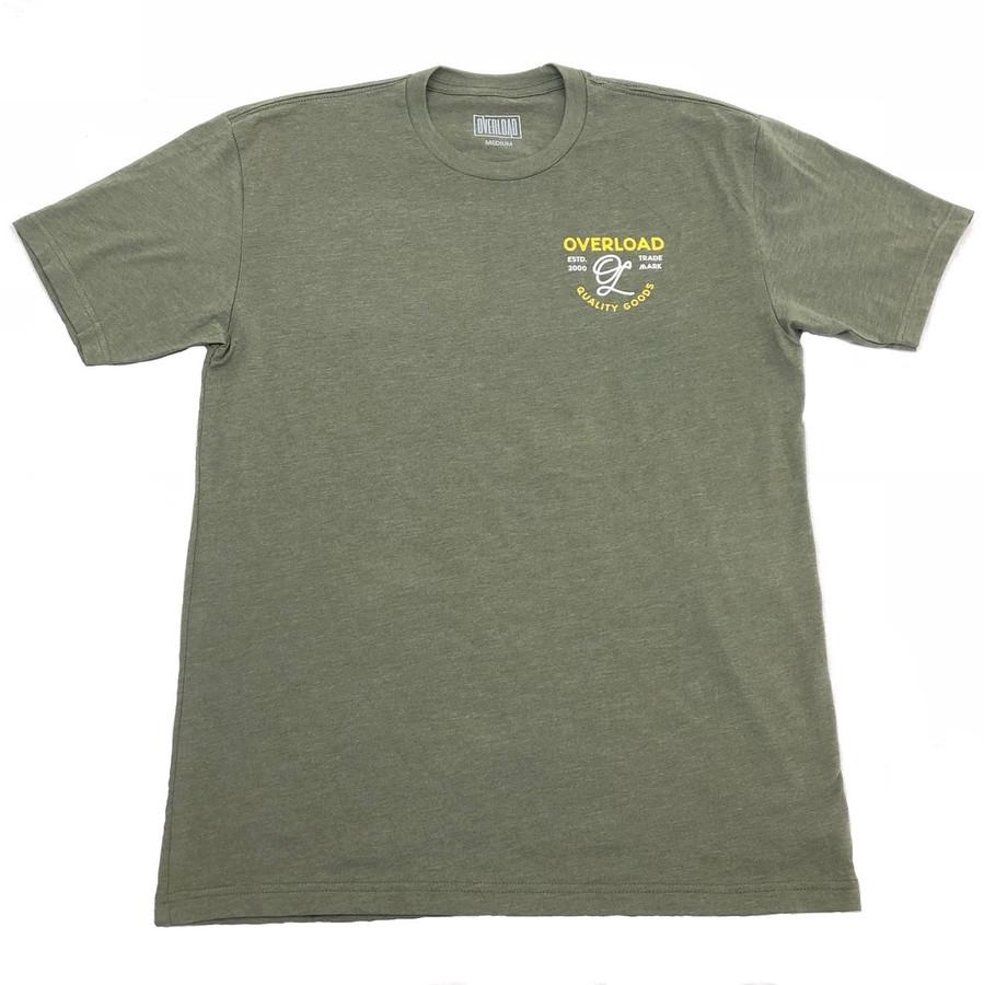 Overload - T-Shirt - Indian Skull - Military Green/Yellow