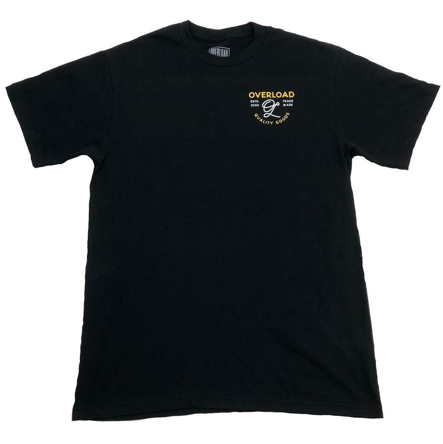 Overload - T-Shirt - Indian Skull - Black/Yellow