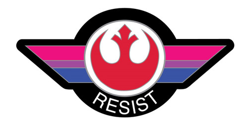 Bisexual Flag Resist Pin