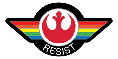 Rainbow Resist Die-Cut Vinyl Sticker