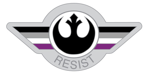 Asexual Resist Pin