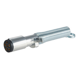 CURT 6-Way Round Connector Plug with Spring #58082