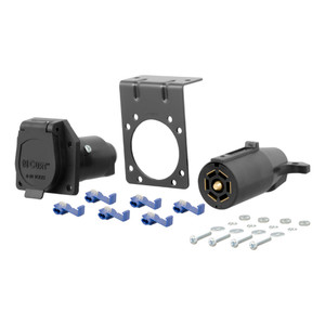 CURT 7-Way RV Blade Connector Plug & Socket with Hardware (Packaged) #58152