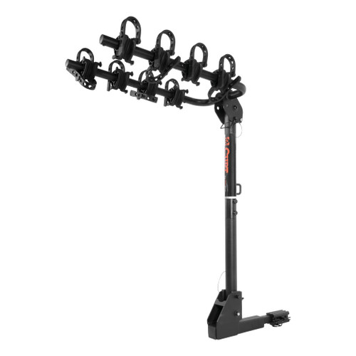 CURT Extendable Hitch-Mounted Bike Rack #18030 Receiver Tube Size: 2 & 1.25 Tilt: Yes