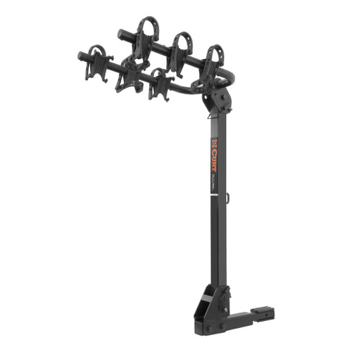 CURT Hitch-Mounted Bike Rack #18033 Receiver Tube Size: 2 & 1.25 Tilt: Yes