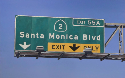 Santa Monica Blvd Exit Only